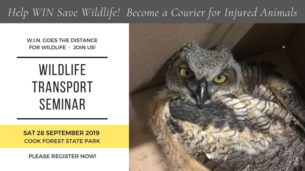CFC WIN Wildlife Courier Training 2019-09-28