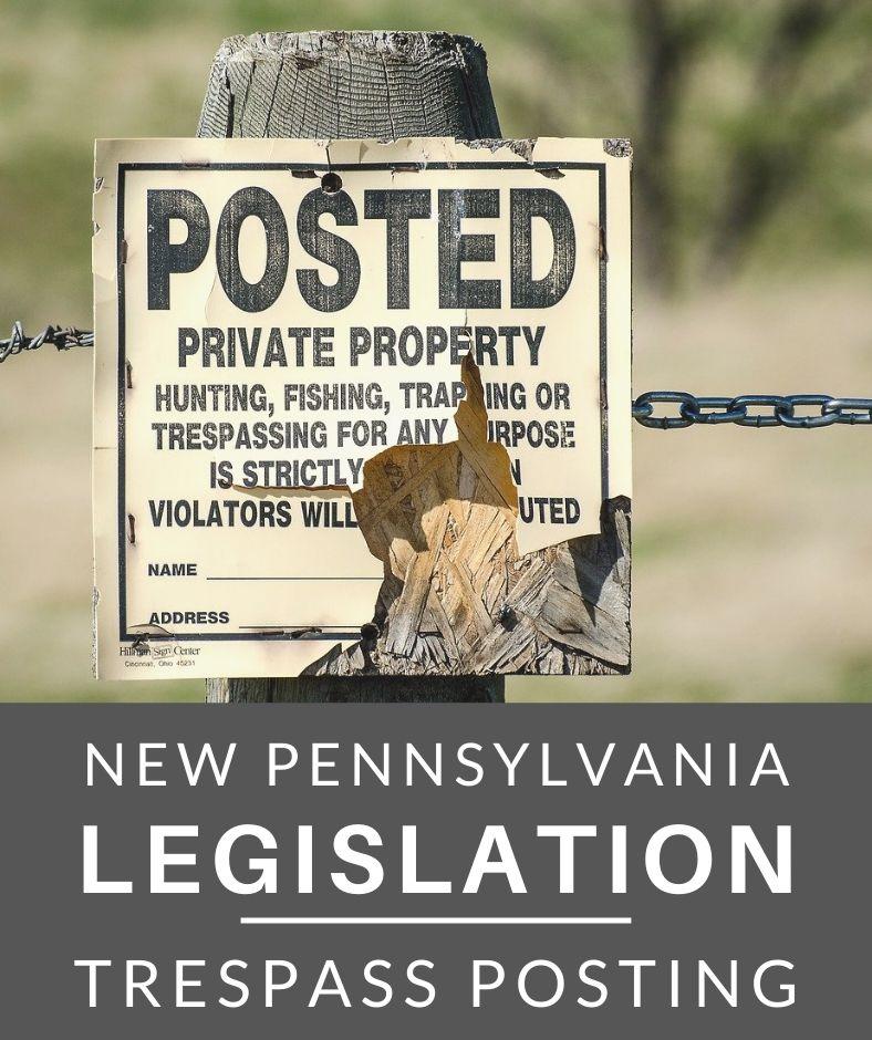 PA Trespass Law Update - purple blaze paint