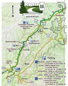 Rail 66 rail trail bike & ski map 2020